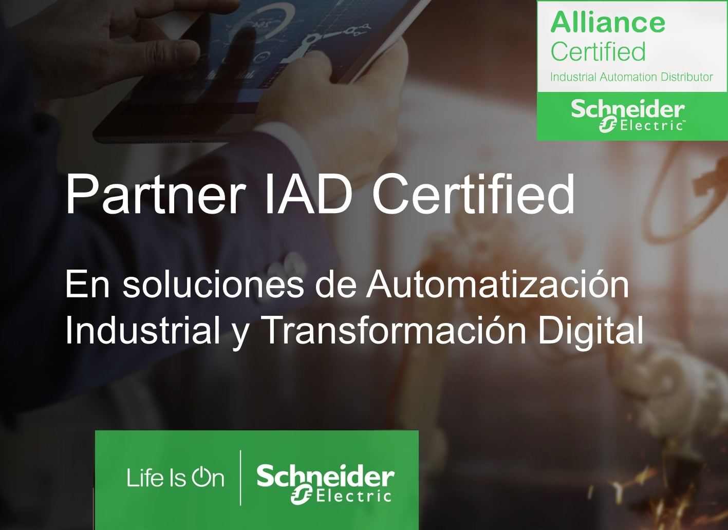 Tecnytran ha obtenido el certificado Alliance Certified Industrial Automation Distributor de Schneider Electric