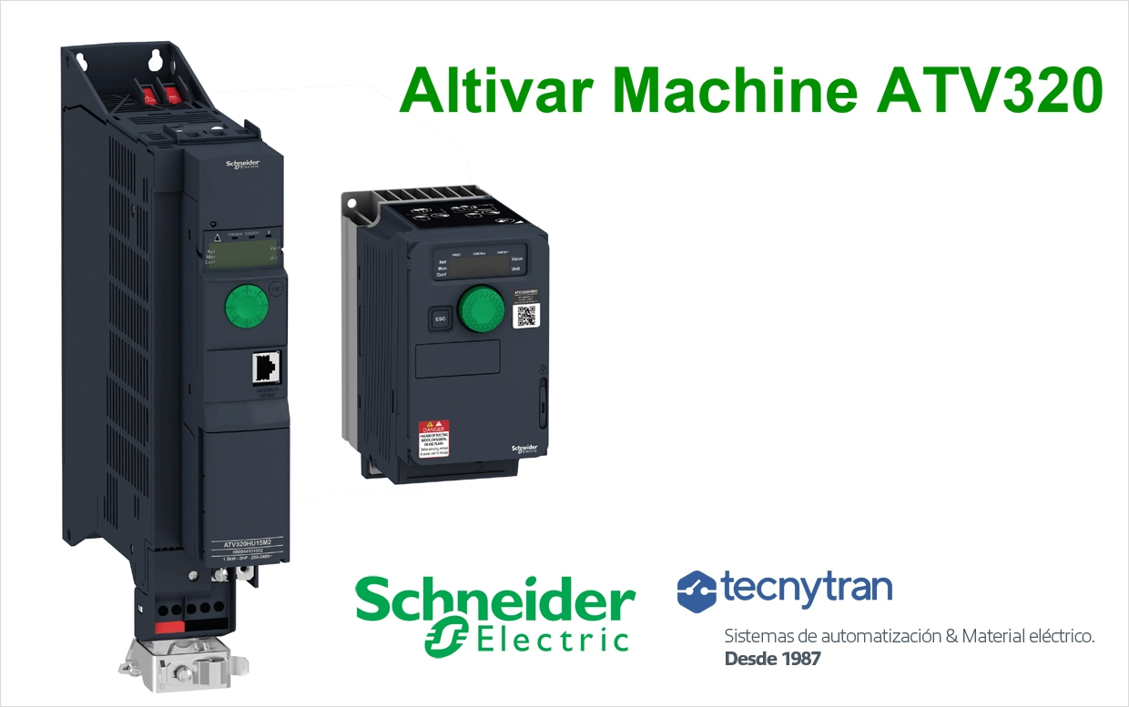 Descubre Altivar Machine ATV320 de de Schneider Electric en Tecnytran